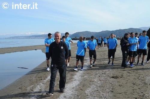 FOTO - Il Mar Nero si tinge di nerazzurro
