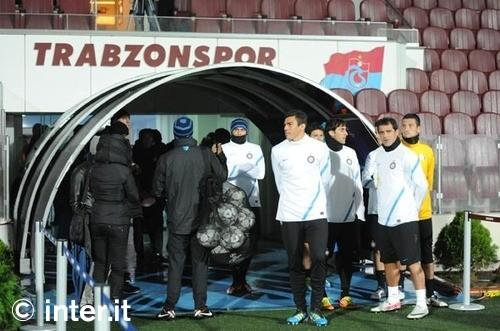 Verso Trabzonspor-Inter, l'allenamento della vigilia