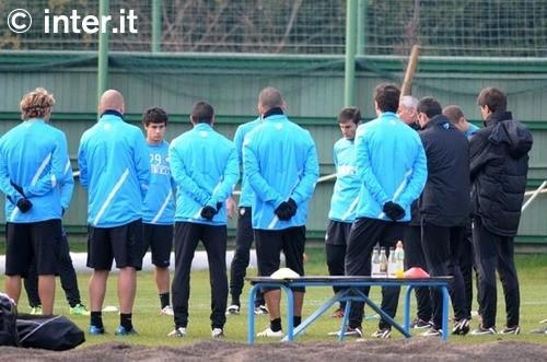 Appiano: penultimo allenamento verso Inter-Udinese