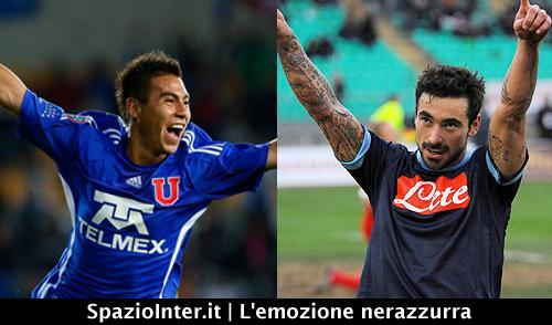 Vargas al Napoli avvicina Lavezzi all'Inter?