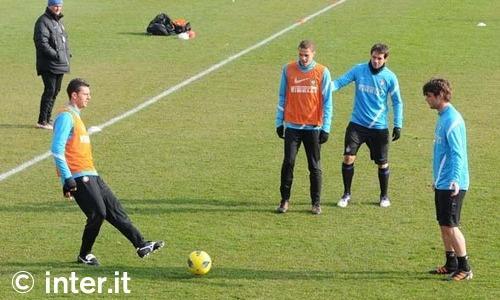 Verso Inter-Palermo: Thiago Motta con il gruppo
