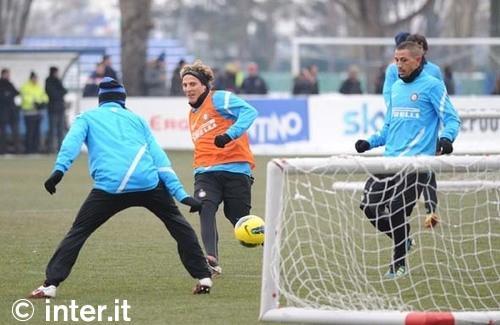 Appiano: Sneijder di nuovo con il gruppo. Alvarez, Forlan e Stankovic ok