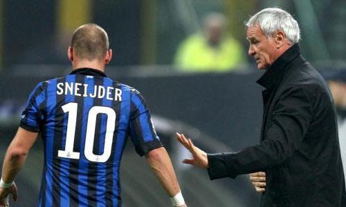 Ranieri fa fuori Sneijder e torna al 4-4-2