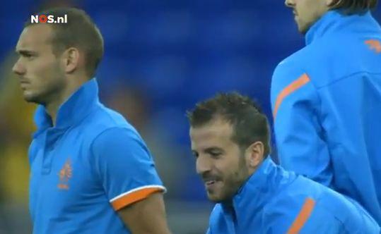 VIDEO - Lo scherzo di Van der Vaart a Sneijder prima di Olanda-Portogallo