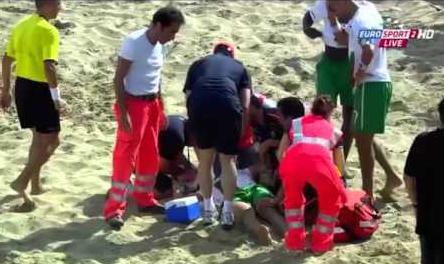 VIDEO - Il peggior infortunio della storia del calcio arriva dal Beach Soccer