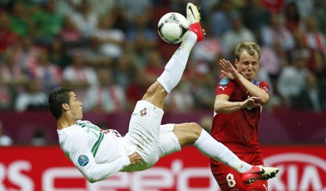 Cristiano Ronaldo Portogallo Repubblica Ceca Euro 2012