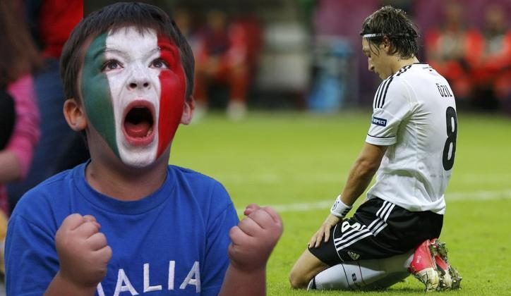 Euro 2012: CAPOLAVORO AZZURRO, Germania in ginocchio