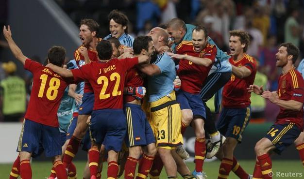 Portogallo-Spagna Euro 2012 esultanza