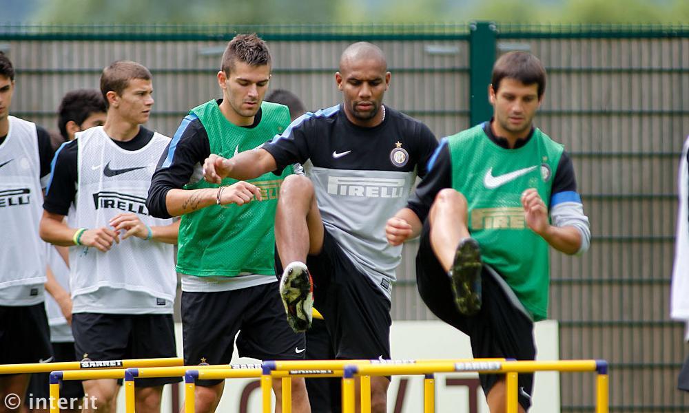 Maicon a Pinzolo con la squadra, per ora niente accordo con il Chelsea