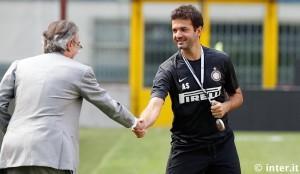 Inter allenamento Meazza Stramaccioni Moratti (00) 07082012