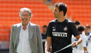 Inter allenamento Meazza Stramaccioni Moratti (12) 07082012