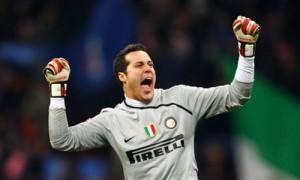 Julio Cesar Inter esultanza