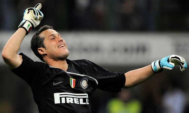 L'Inter saluta Julio Cesar: