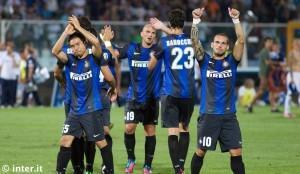 Pescara-Inter, saluto squadra