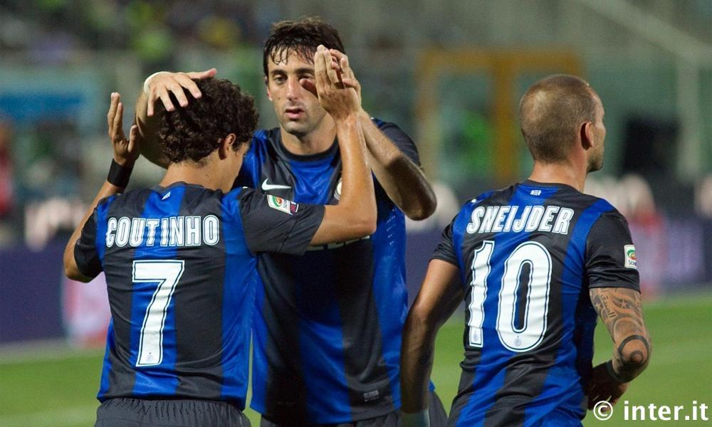 Una bellissima Inter rovina la festa del Pescara: 3-0 firmato Sneijder, Milito, Coutinho