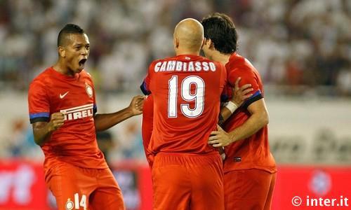 festeggiamenti gol Hajduk Spalato-Inter
