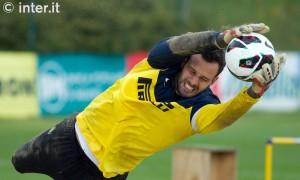 Handanovic Inter allenamento