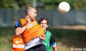 Inter allenamento 17 settembre 2012 - Samuel