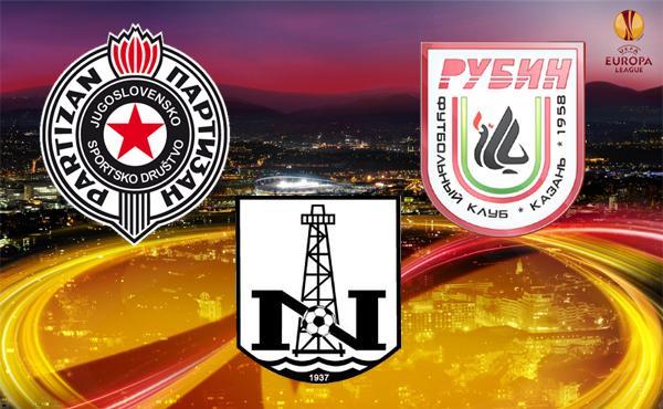 Alla scoperta di Partizan Belgrado, Rubin Kazan e Neftchi Baku