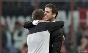 Abbraccio Stramaccioni Cassano