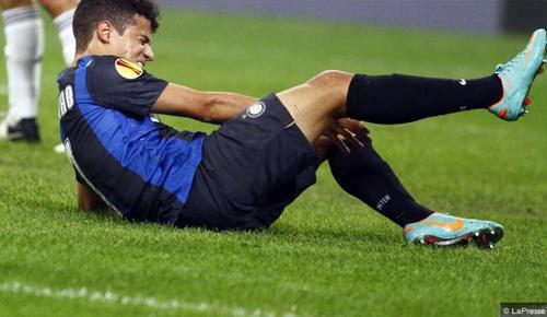 Per Coutinho frattura d'impatto del margine anteriore della tibia. Stop di 3-4 settimane