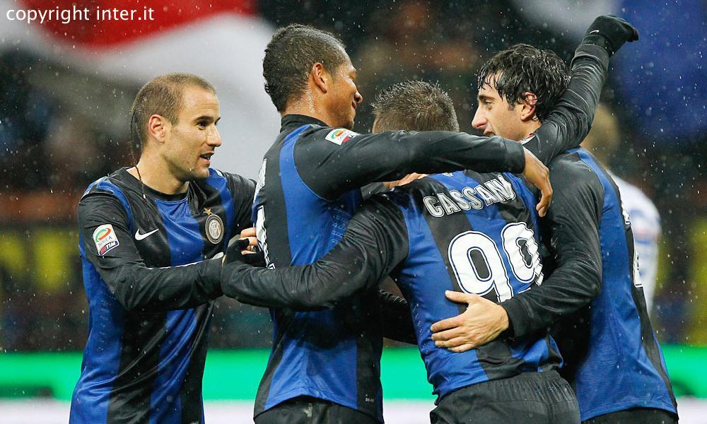 VIDEO - Milito, Palacio e Guarin firmano la sesta vittoria consecutiva. L'Inter vola al 2°posto