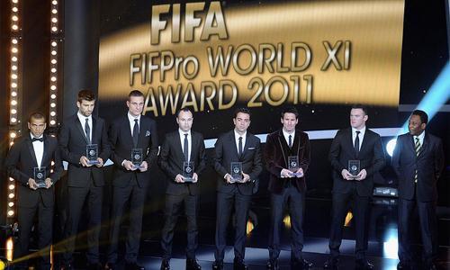 Top 11 Fifa: ecco i candidati per la formazione migliore del 2012