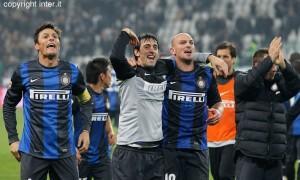 Juventus-Inter, Cambiasso Milito Zanetti
