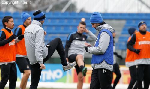Verso Lazio-Inter: programma tattico e partitella nel terzo allenamento della settimana