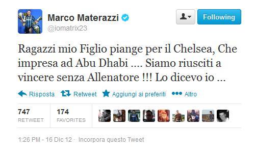 Materazzi tweet Benitez