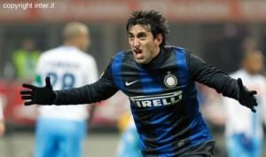 Milito gol esultanza Inter-Napoli