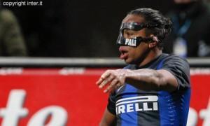 Inter Gargano e Alvaro Pereira mascherina