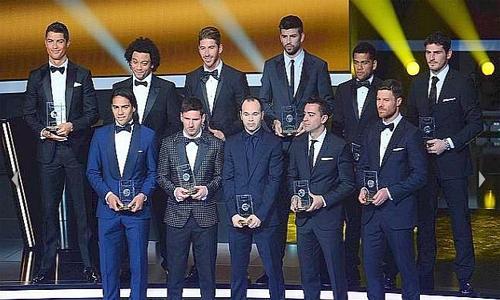 Ecco la Top 11 Fifa dell'anno che si è appena concluso. Nella formazione dei sogni...