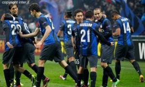 Inter-Cluj esultanza squadra