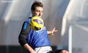 pagellone nerazzurro Zdravko Kuzmanovic Inter allenamento