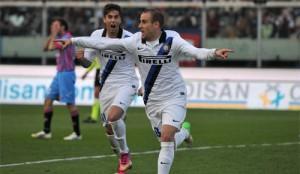 precedenti Catania vs Inter esultanza Palacio