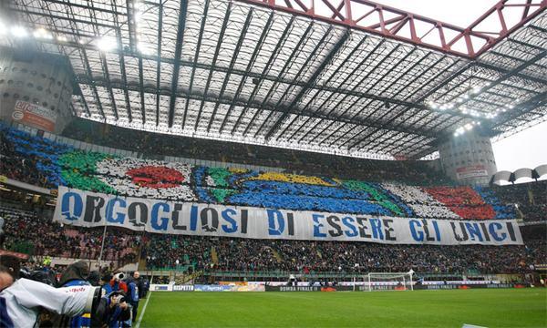 Inter-Juventus coreografia orgogliosi di essere gli unici