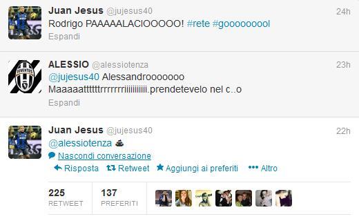Juan Jesus Twitter tifoso Juve