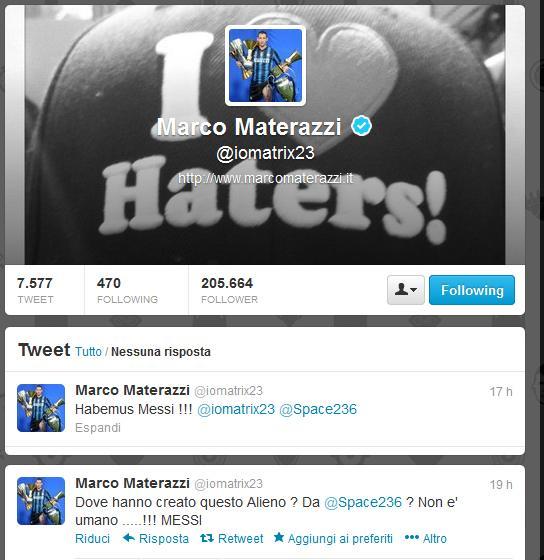 Materazzi tweet Barça-Milan