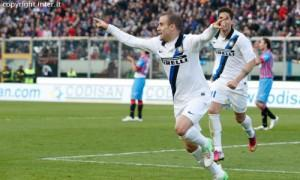 Rodrigo Palacio Catania-Inter esultanza
