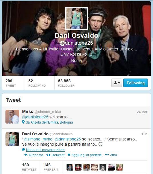 Tweet Osvaldo