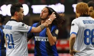 Cigarini Schelotto rissa Inter-Atalanta