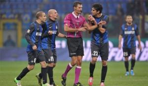 Inter polemiche proteste arbitri