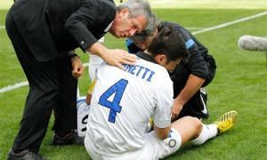 Javier Zanetti infortunio Palermo-Inter