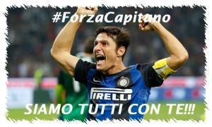 Zanetti messaggio Forza Capitano!!!