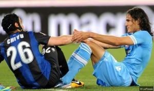 Chivu Cavani Napoli Inter