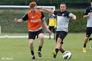 Inter allenamento 14 maggio 2013 Knudsen Olsen (7)