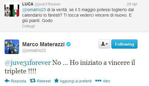 Materazzi Twitter
