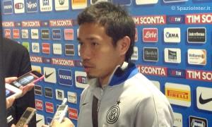 Inter vs Udinese Nagatomo mixed zone