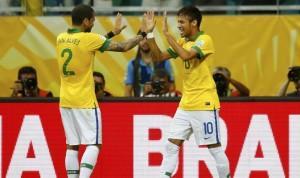 Neymar Dani Alves Confederations Cup 2013